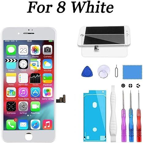 Beefix Display f/ür iPhone 8 Plus Schwarz iPhone 8 Plus Bildschirm 5,5 LCD Touchscreen Digitizer Ersatzteile Ersatz Demontage Kit Ersatz