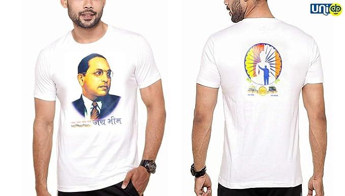 6edea299b Selling Uniqness Men's Poly Cotton Regular Fit Baba Saheb Ambedkar Jai BHIM  Printed Round Neck and Half Sleeve T-Shirt (White): Amazon.in: Clothing &  ...