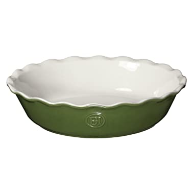 Emile Henry Made In France HR Modern Classics Pie Dish, 9 , Green