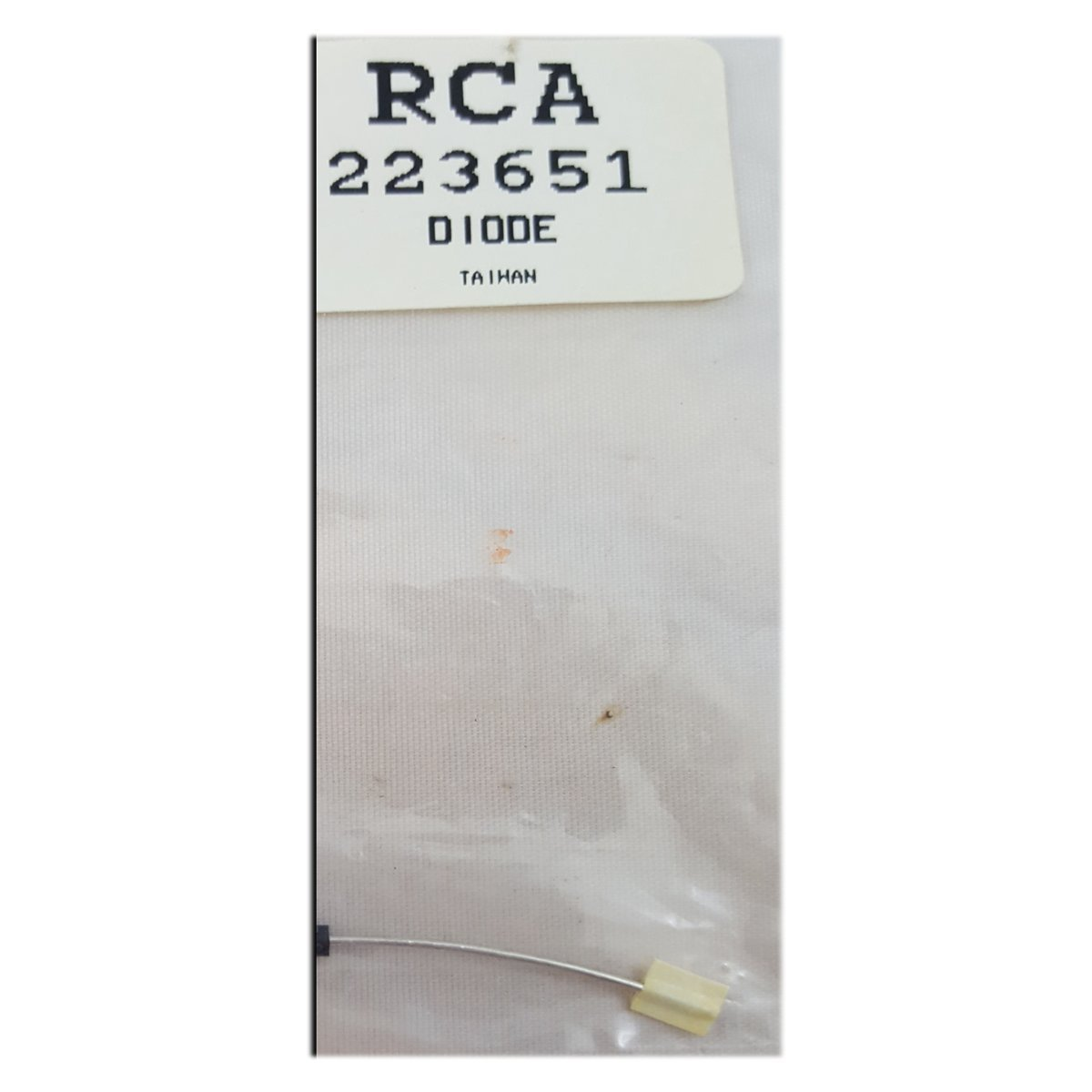 RCA VCR Replacement Part Diode No. 223651