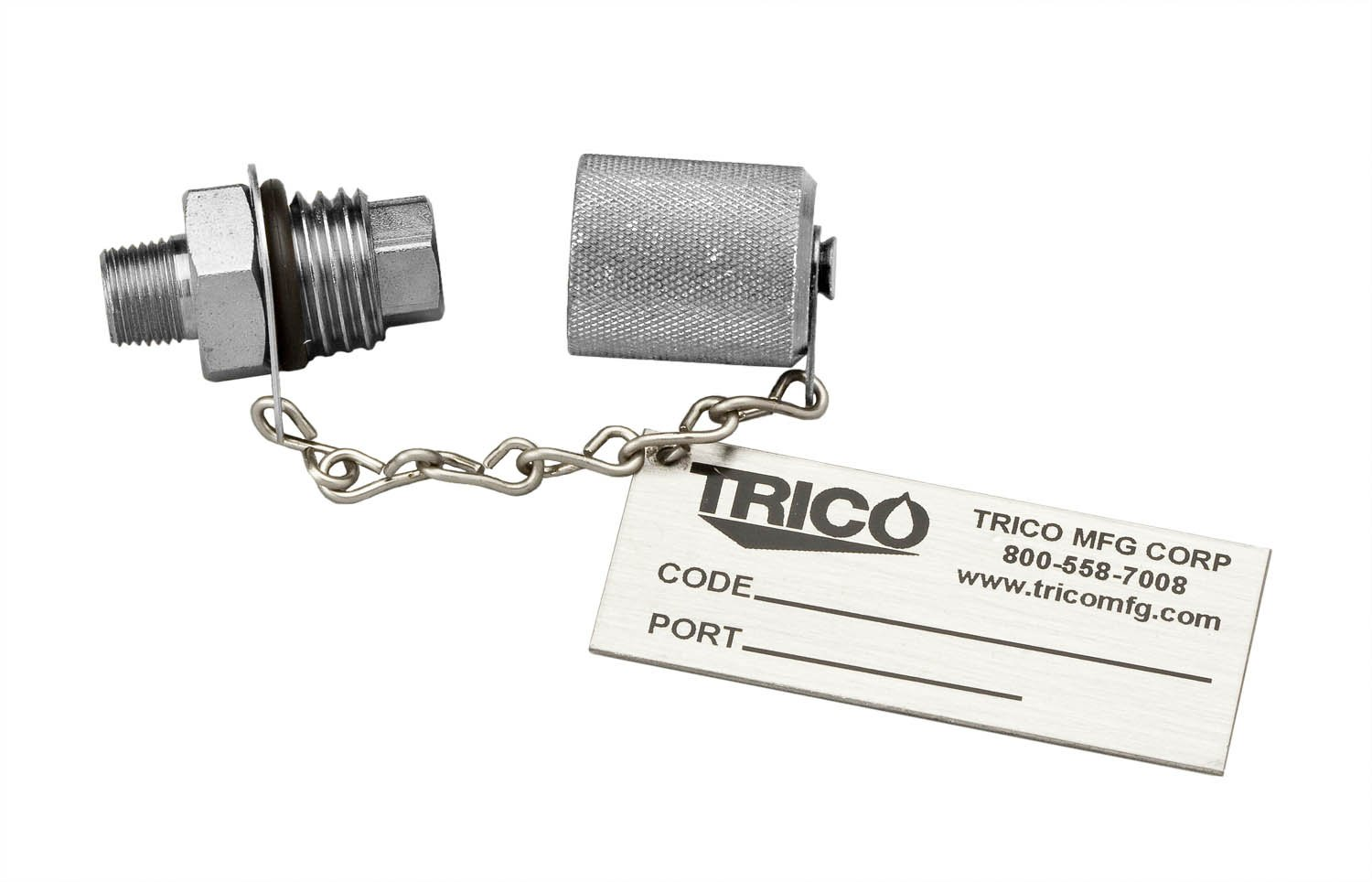 Trico Stainless Steel Oil Sampling Port, 1/4'' NPT Male x M16 x 2