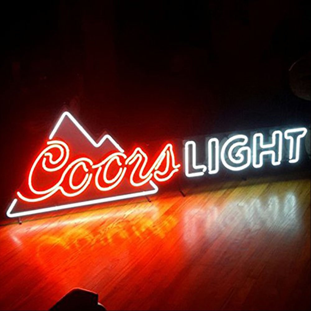 LiLingU Neon Signs, Real Glass Neon Sign ''Coors Light'' Appropriate for Gifts, Bar Signs with High Fine Process for Bar, Pub, Hotel, Restaurant, Wedding Party, and Home Wall Decor.