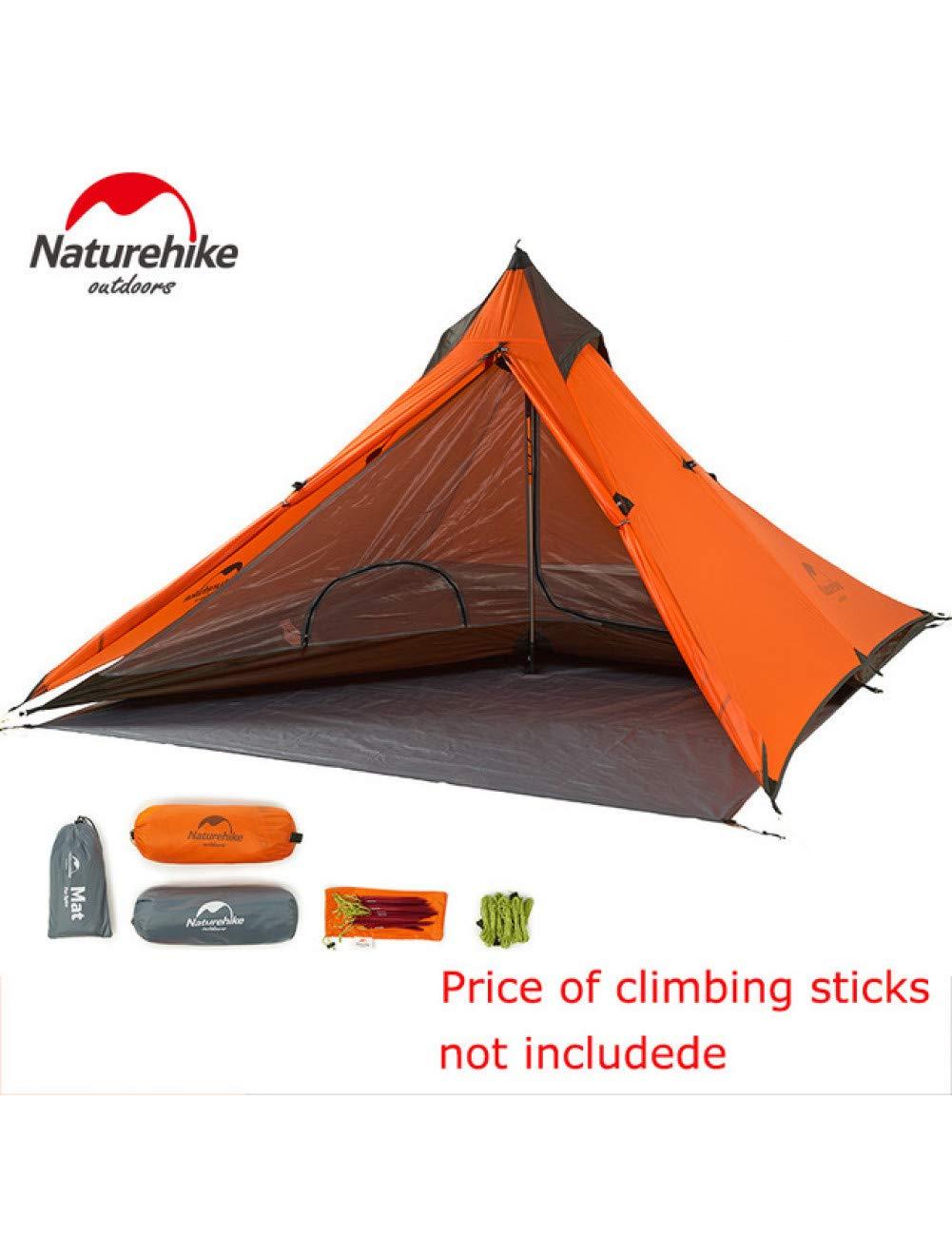 MDZH Tente Une Personne Tente Aucun Pôle Super Léger   Tentes d'escalade De Montagne en Plein Air Pyramide set of tent no stick -