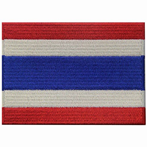 Thailand National Costume Men And Women (Thailand Flag Embroidered Patch Thai Iron On Sew On National Emblem)