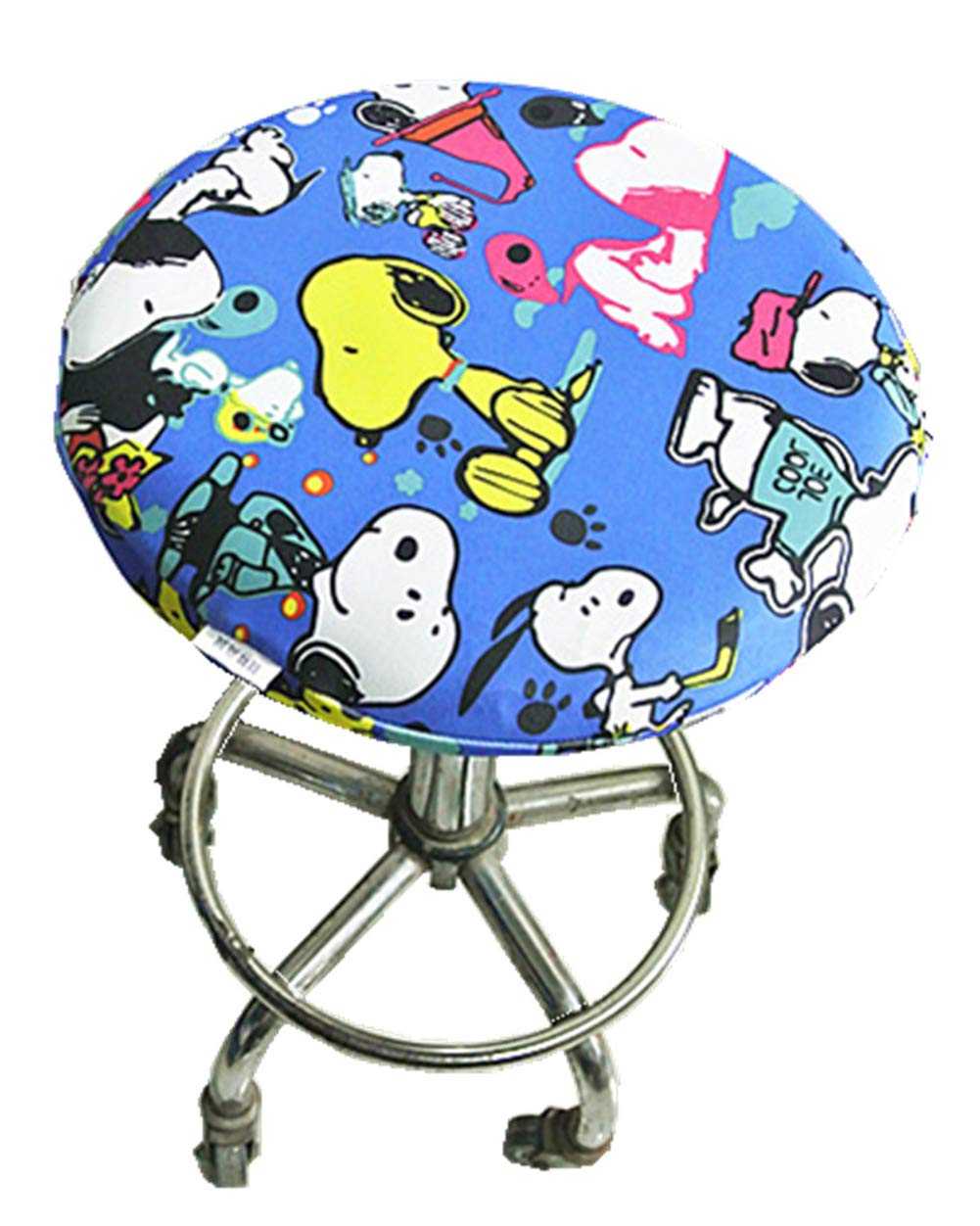 01, 12 Seiyue Soft Bar Stool Cover Elastic Round Cushion Slipcover Chair Seat Cover Protectors 30cm Only Cover,No Stool