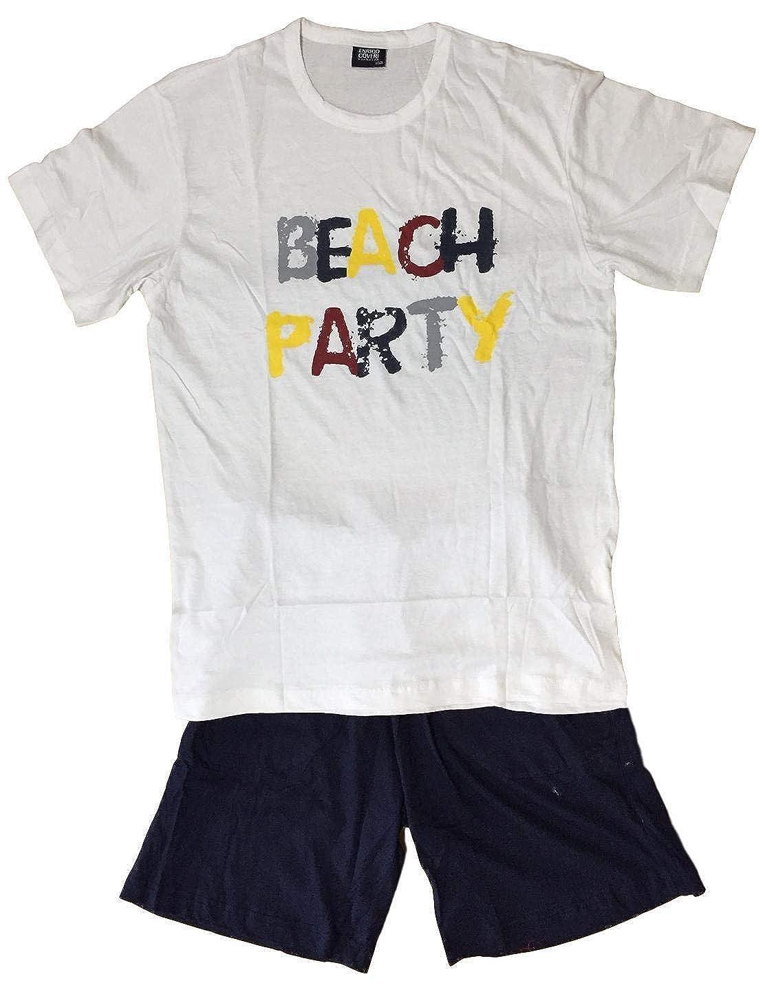 Mens Short Pyjamas EX Store 2 Piece T Shirt Shorts PJ Set New