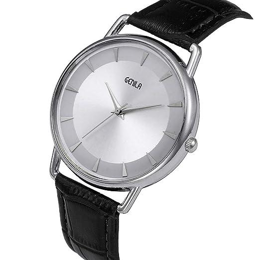 SamMoSon Reloj Relojes Hombre Deportivos Mujer, Hombres Moda Correa De Color Dial Digital Banda De Cuero Relojes Analógicos De Cuarzo: Amazon.es: Ropa y ...