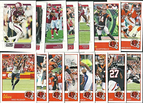 2019 Panini Score Football Cincinnati Bengals Team Set 15 Cards W/Drafted Rookies - Card Bengals