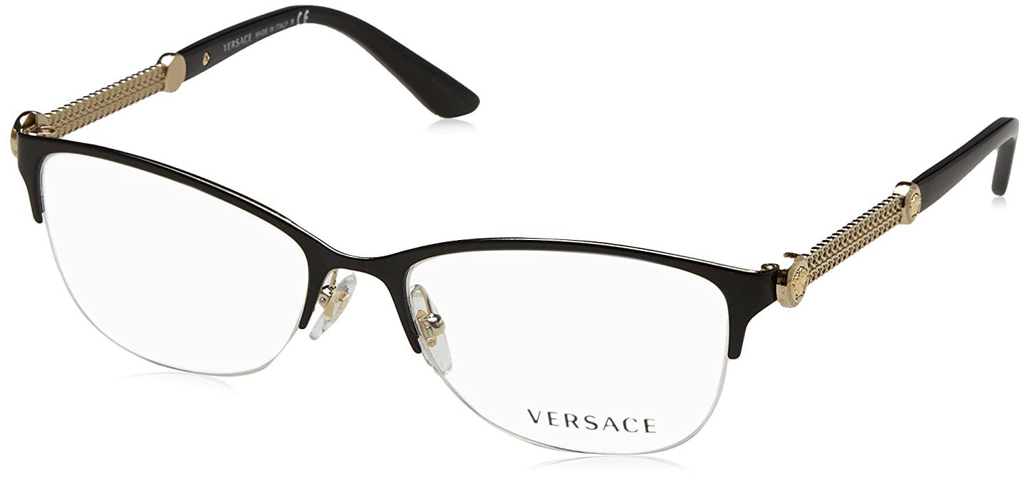 21ca62d10c5 Amazon.com  Versace Women s VE1228 Eyeglasses 53mm  Clothing
