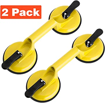 Suction Cup Lifter Heavy Duty Suction Cup Aluminum Vacuum Plate Double Handle Professional Glass Holder Hooks Mover Puller Lifter Gripper for Moving Large Glasses Window Mirror Granite Repair Laminate Floor Gap Fixer