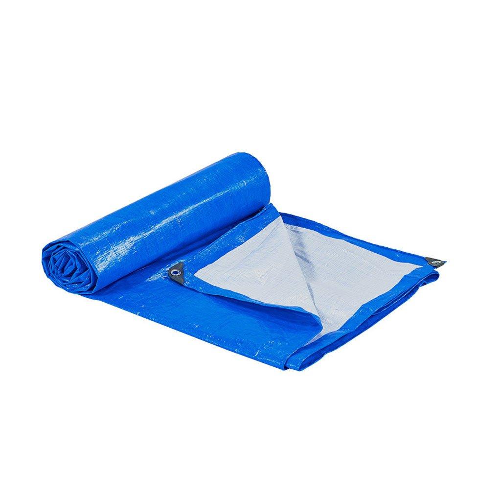 ターポリン キャンバス PE肥厚 雨布 防水 日焼け止め プラスチック トラック アウトドア シェード 175g/M2 厚さ0.32MM 青と白 (サイズ さいず : 10m*12m) B07FNL6Q8R 10m*12m  10m*12m