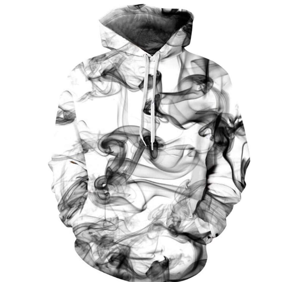Hot Style Smoke Digital Printed Baseball Suit Couple Size Casual Hoodie