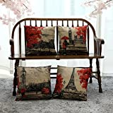 Kate 4 Packs Throw Pillow Covers 18 x 18 Inches