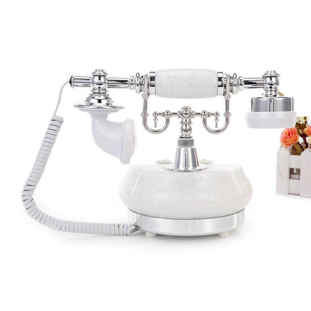 Liu Yu·casa creativa, creativo de plata de mármol blanco decoración de la casa de moda de alta tonalidad de manos libres luminoso llamador ID retro teléfono ...