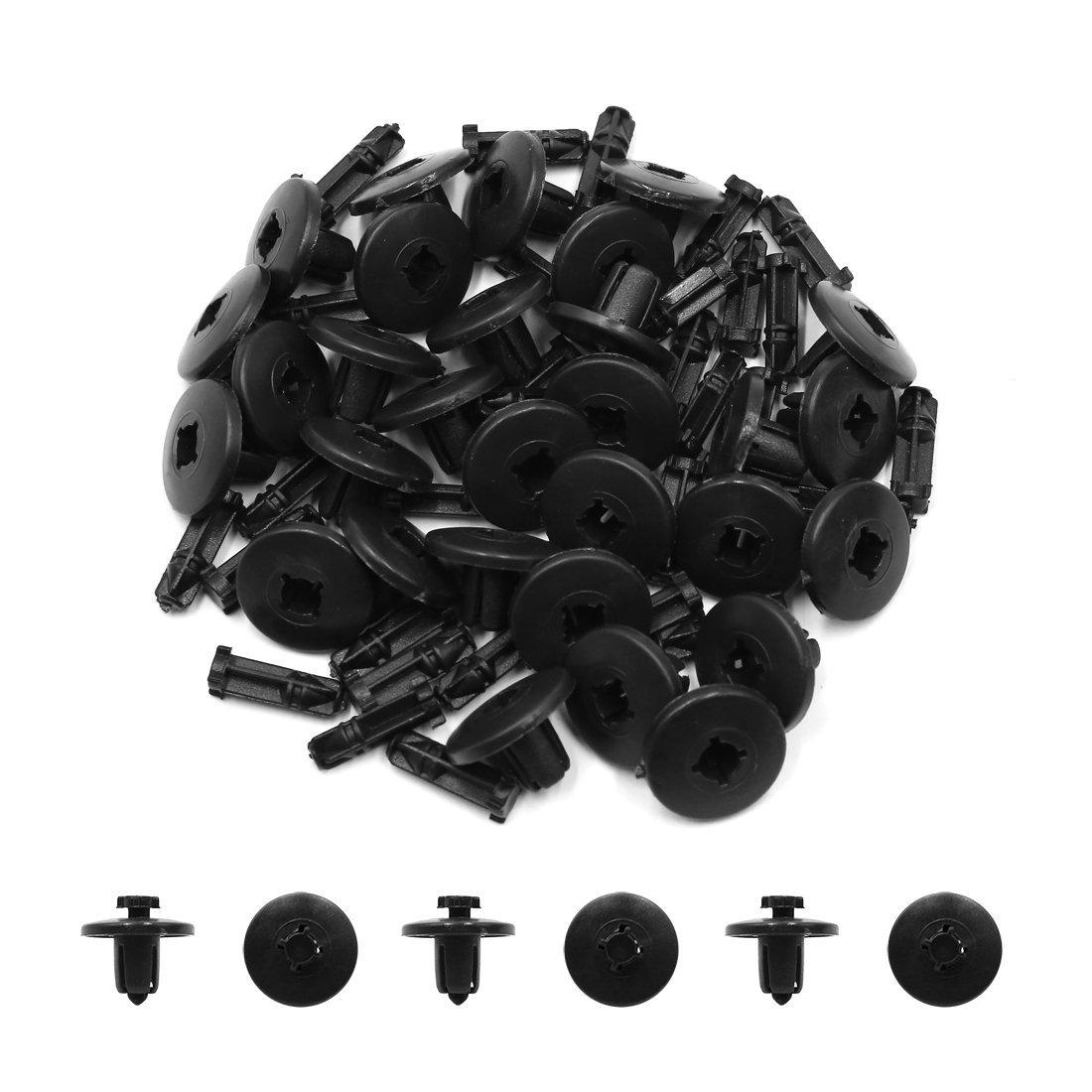 Amazon.com: eDealMax 30pcs 8 mm agujero remaches de plástico Sujetador burletes de moldeo Clip Negro Para el coche: Automotive