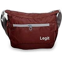 Legit Travel Polyester Sling Bag Professional Bag for Boys Daypack Messenger Bag School/Office Casual Bag (Brown)