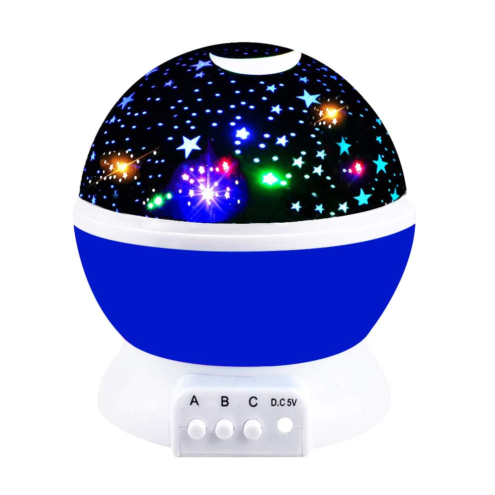Fun New Cool Toys for 2-10 Year Old Boys Girls, Tisy Wonderful Quiet Romantic Starlight for Kids Toys for 2-10 Year Old Boys Christmas Birthday Presents Gifts for 2-10 Year Old Girls Blue TSUSXK001