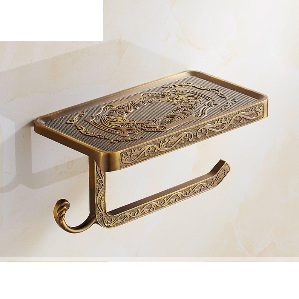 Tissues Holder /Antique Toilet Paper Holder/Mobile Bathroom Stainless Steel  Tissue Box/Full