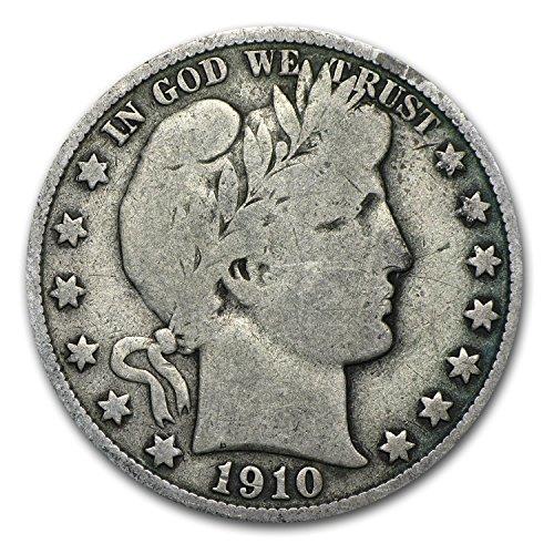 1910 S Barber Half Dollar Fine Half Dollar Fine