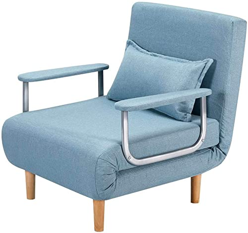 HOMHUM Convertible Sofa Bed Sleeper Chair,Adjustable 5 Position Backrest