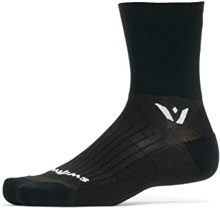 product image for Swiftwick- PERFORMANCE FOUR Trail Running & Cycling Crew Socks, Max Durability