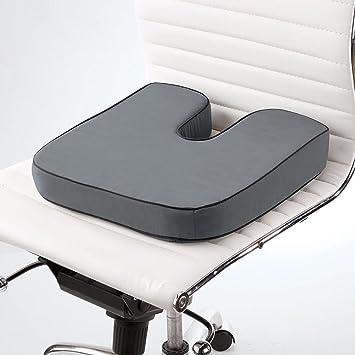 22edb4aa0d2 Amazon.com  Brookstone Biosense Memory Foam Orthopedic Seat Cushion ...