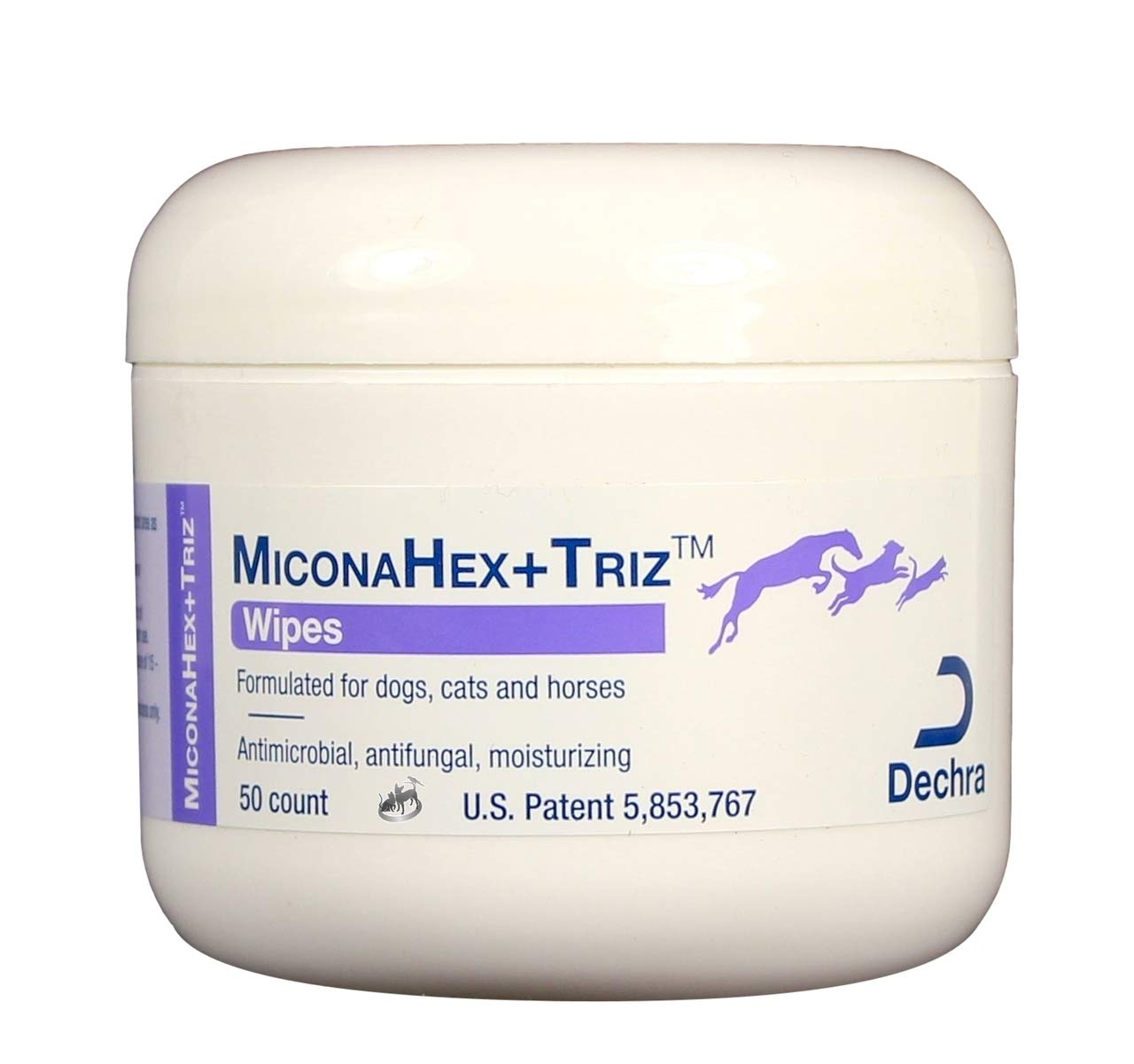 Dechra Miconahex +Triz Pet Wipes Anti-bacterial and anti-fungal properties 50ct