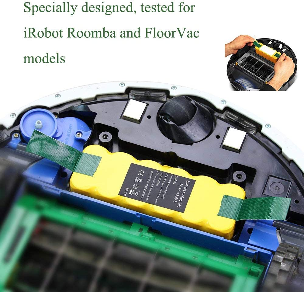 Topbatt 14.4V 3.5Ah para iRobot Roomba Batería de Repuesto Ni-MH ...