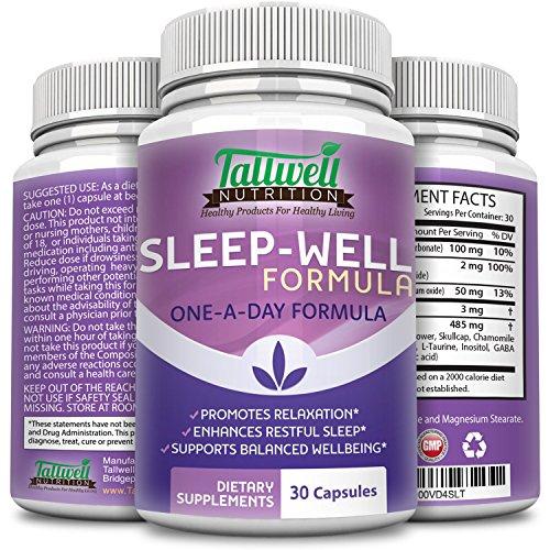 Melatonin Natural Sleep Aid Supplement, Calming Herbal Formula Helps You Relax to Improve Mood & Balanced Well-Being - 30 Veggie Capsules