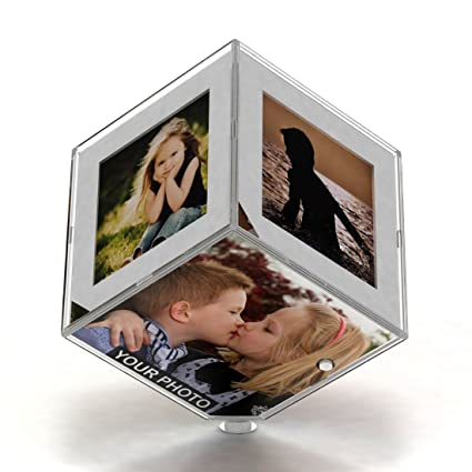 83a885b67539 Buy Transparent Photo Personalized Photo Rolating Magic Cube GiftsOnn Photo Frame  and Cube Online at Low Prices in India - Amazon.in