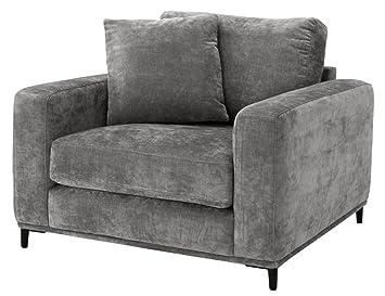 Casa-Padrino sillón de salón de Lujo Gris/Negro 105 x 102 x ...
