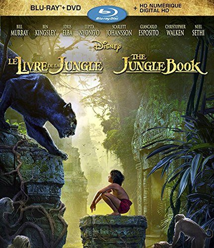 The Jungle Book (Bilingual) [Blu-ray] Neel Sethi Bill Murray Ben Kingsley Idris Elba