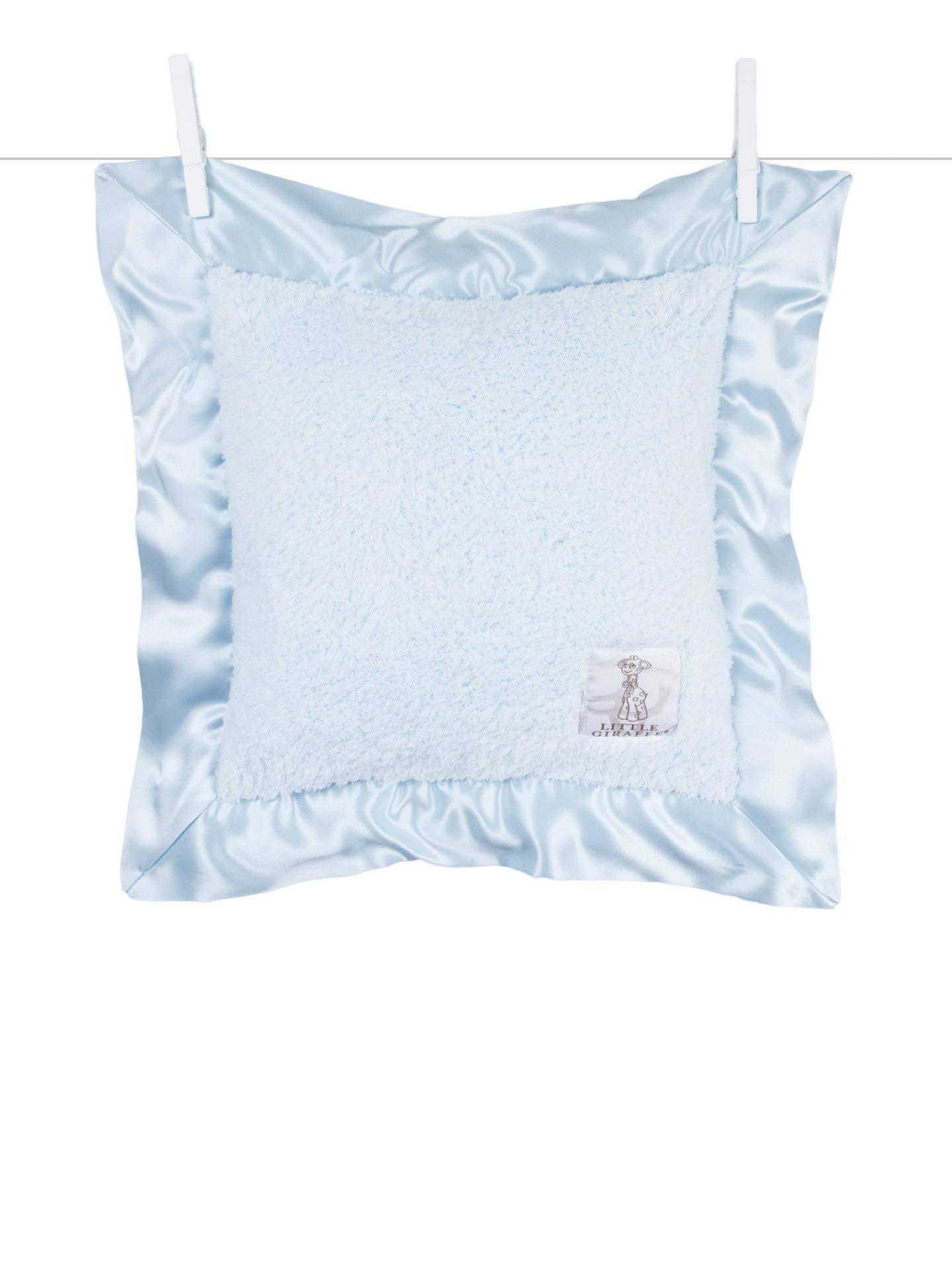 Little Giraffe Chenille Pillow, Blue, 14'' x 14'' by Little Giraffe (Image #1)