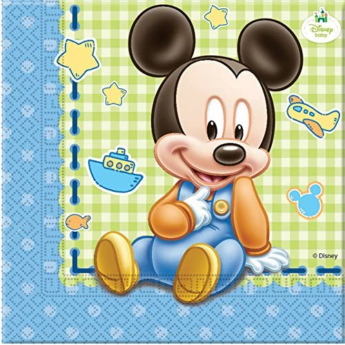 Unique Party bébé Mickey Serviettes jetables (lot de 20)