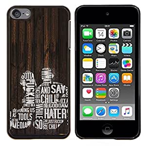 LECELL--Funda protectora / Cubierta / Piel For Apple iPod Touch 6 6th Touch6 -- Chill enemigos Joder Mujer Hombre Cita Amor --