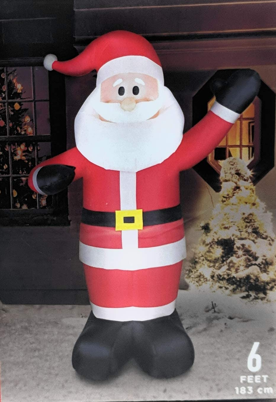 Amazon Com Walgreens Let Is Snow 6 Foot Lighted Inflatable Santa Garden Outdoor