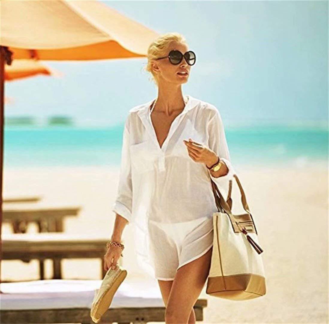 LOVEACH Womens Swimsuit Beach Cover Up Shirt Bikini Beachwear Bathing Suit Beach Dress