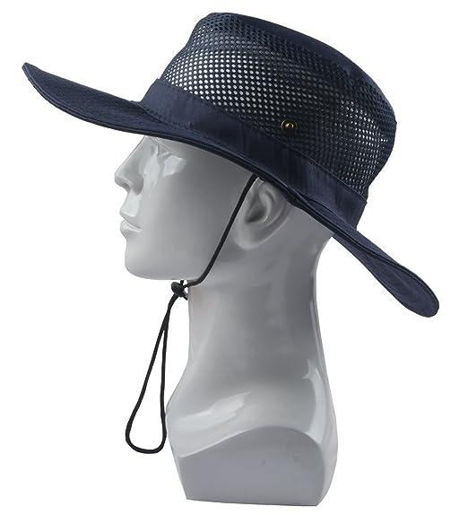SUNLAND Fishing Hats Sun Hats Summer Hats Bucket Safari Caps (Black ... d165ea2f0074