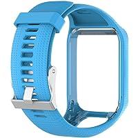 Feteso Correa de silicona de liberación rápida para reloj GPS TomTom Spark 2/3 Sport