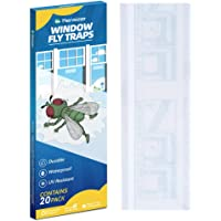 Kensizer 20-Pack Window Fly Traps, Fly Paper Sticky Strips, Fly Catcher Clear Windows Trap for Home, House Fly Killer…