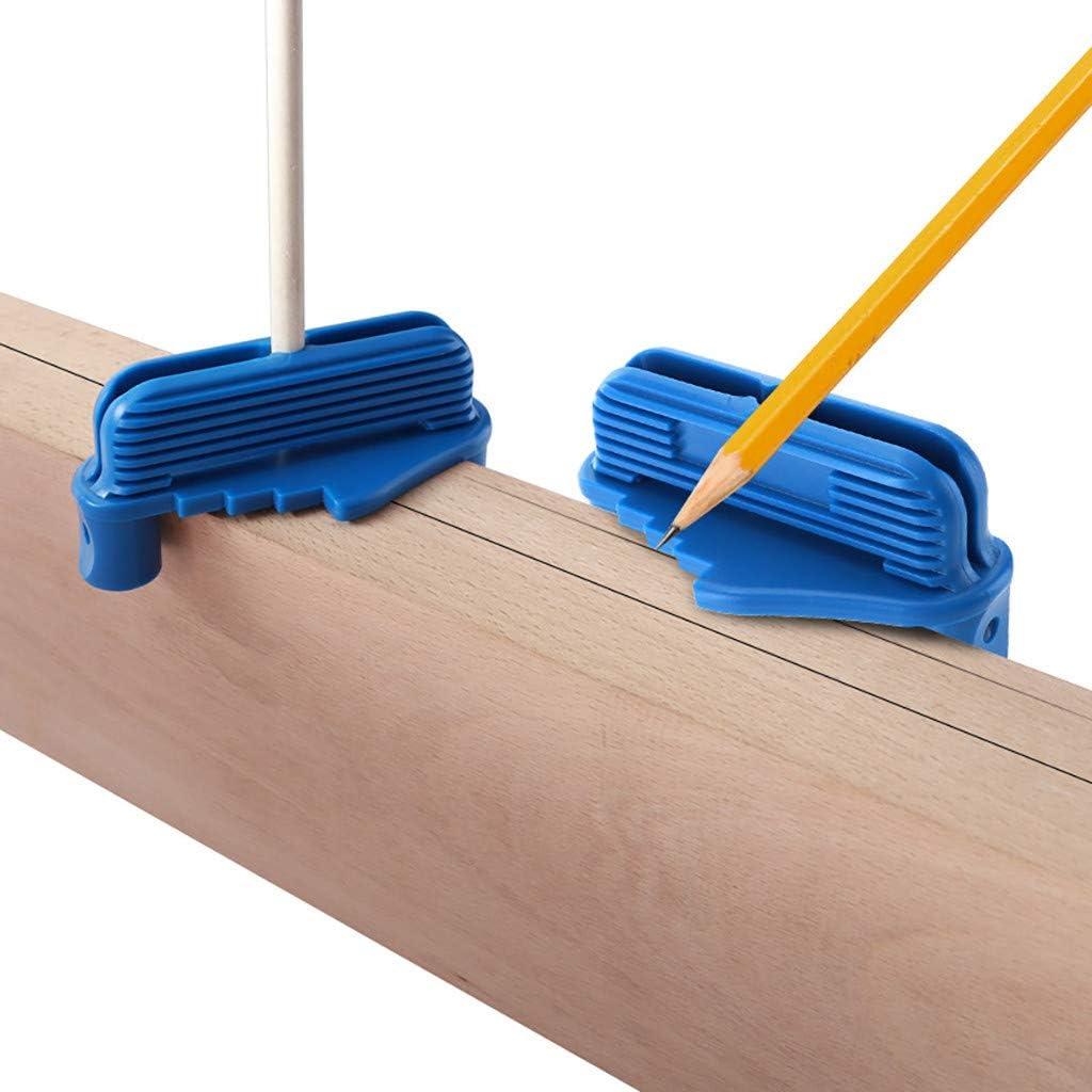 Rockler Centre Offset Marking Tool 53098 Fits Standard Wooden Pencils Marking Tool Blue ErYao Multifunctional Center Scriber Measuring Gauge Woodworking Marking Tool Center Scriber Blue