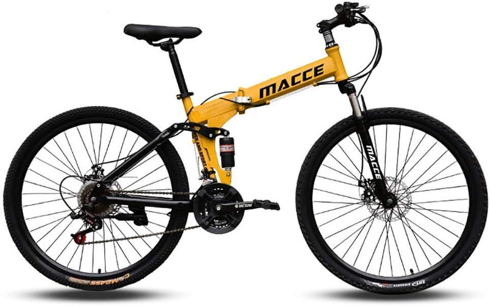 XHCP Bicicleta de montaña Plegable de 26 Pulgadas, Bicicletas de ...