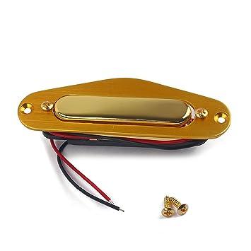 Healifty - Juego de 5 pastillas de sonido para guitarra eléctrica de Alnico V con marco de pastilla chapado en oro para Fender Telecaster: Amazon.es: ...