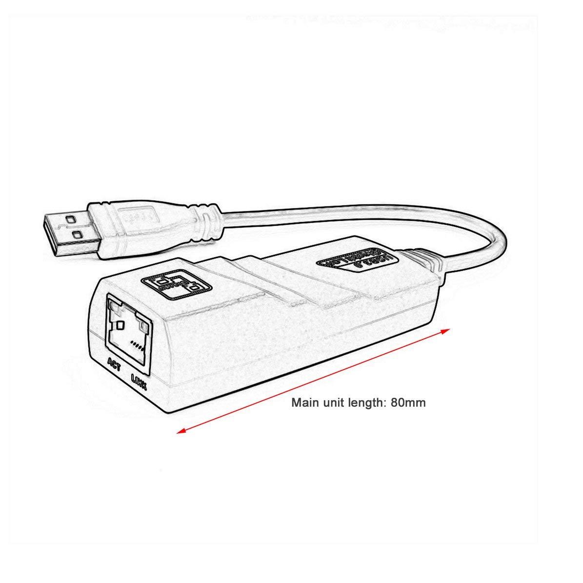 DoMoment USB 3.0 Gigabit LAN USB 3.0 to RJ45 Gigabit Ethernet Adapter 10//100//1000Mbps Computer to Router Network Adapter