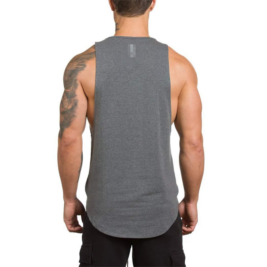 WERF Fitness Sports Vest Mens Outdoor Running Quick-Drying Slim Sleeveless Shirt