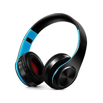 Ruick Auriculares Bluetooth con cancelación de ruido estéreo, inalámbricos, ligeros, plegables, con cable, inalámbricos, Bluetooth, para teléfono móvil, TV ...