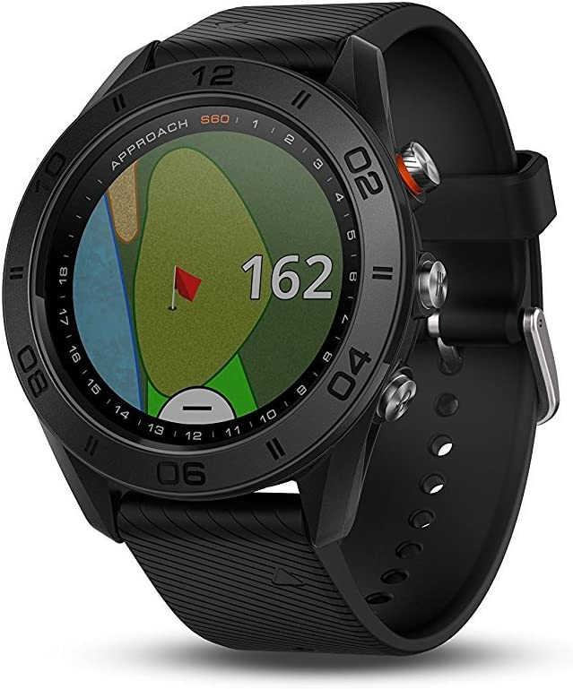 Garmin Approach S60, Premium GPS Golf Watch with Touchscreen Display and Full Color CourseView Mapping, Black w Silicone Band 1 Year Extended Warranty