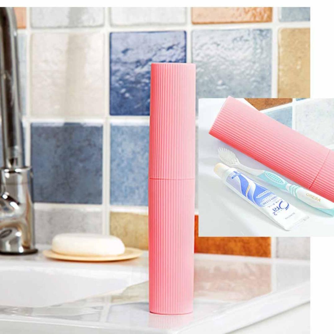 Herramienta de cepillo de dientes pasta de dientes caja de almacenamiento portátil de viaje newkelly bastidor easy-take: Amazon.es: Hogar