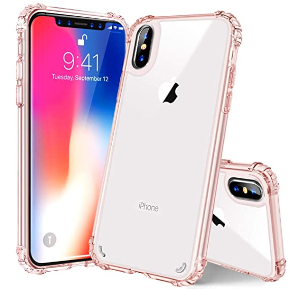 iPhone Xs Max case Clear, PIXIU Transparent Crystal Slim
