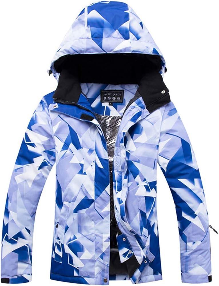 KingsleyW 女性のスキージャケットスノーボード屋外ハイキングのための防水防風スノージャケット (色 : A01, サイズ : XL) A01 X-Large